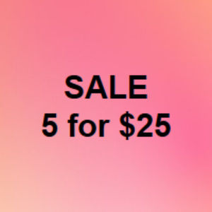 Other - BUNDLE SALE! Everything $9 or less is 5/$25!